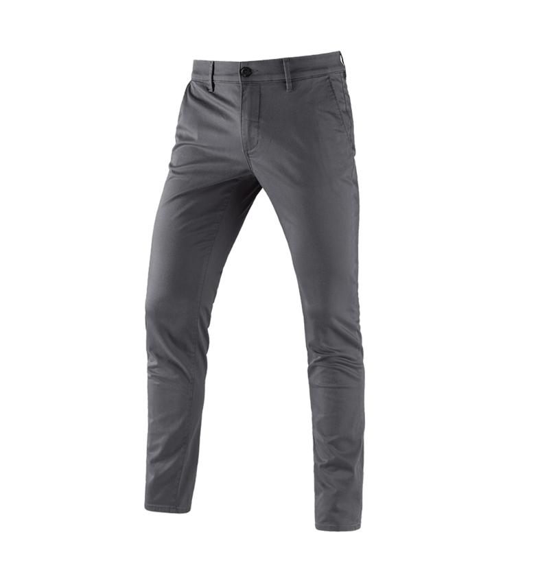 Pracovní kalhoty: e.s. Pracovní kalhoty s 5 kapsami Chino + antracit