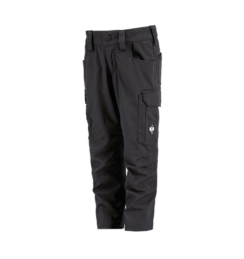 Kalhoty: Kalhoty do pasu e.s.concrete solid, dětské + černá