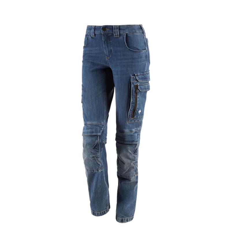Pracovní kalhoty: Pracovní džíny cargo e.s.concrete, dámské + stonewashed