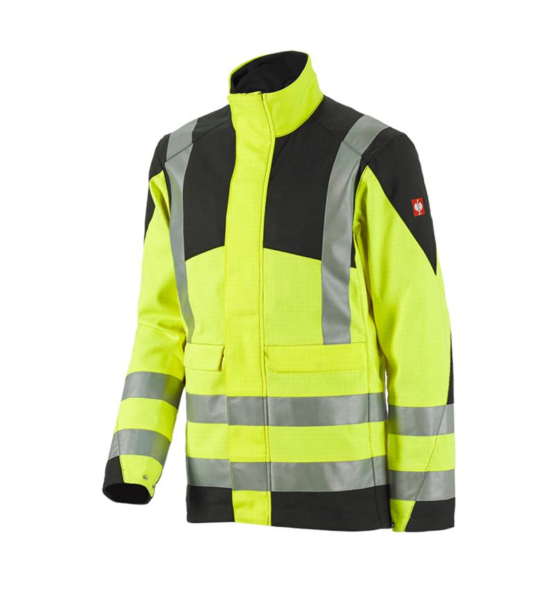 Pracovní bundy: e.s. Pracovní bunda multinorm high-vis + výstražná žlutá/černá