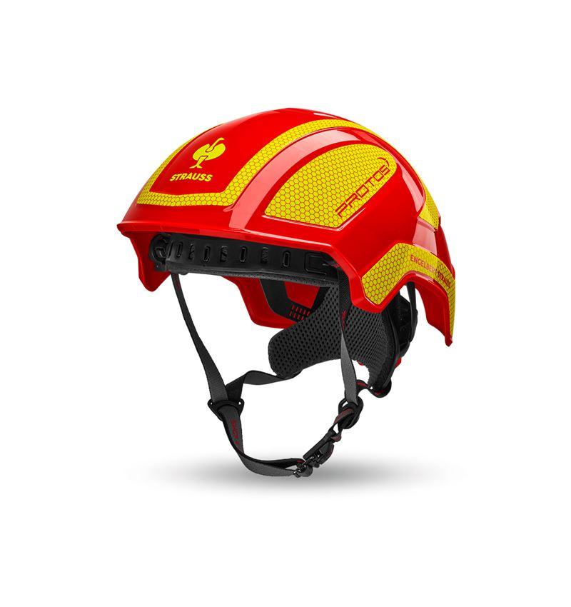 Ochranné přilby: e.s. Horolezecká přilba Protos® + ohnivě červená/žlutá