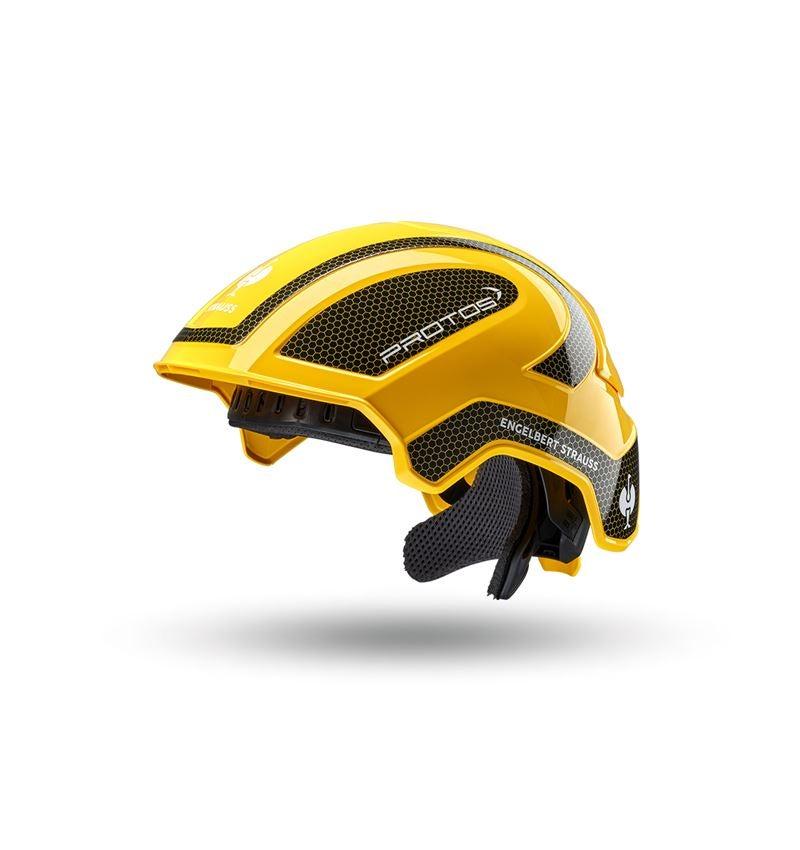 Ochranné přilby: e.s. Pracovní přilba Protos® + žlutá/černá