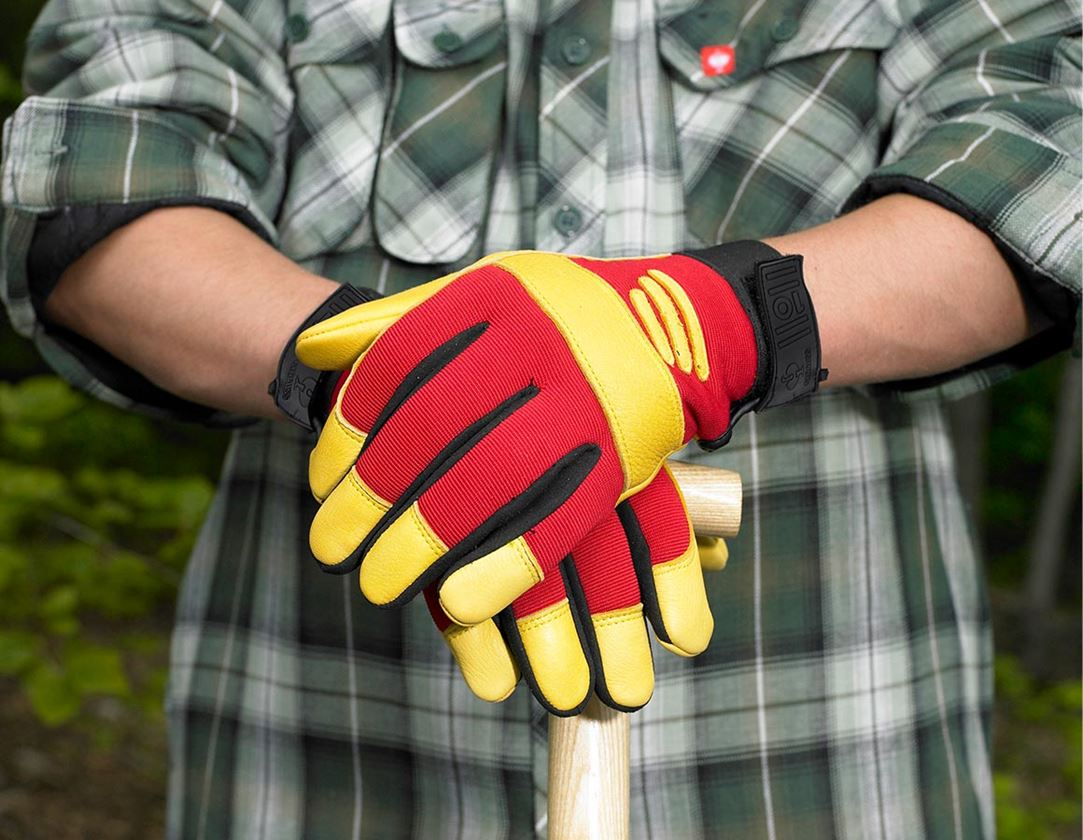 Kůže: Montážní rukavice z plné usně Biflex