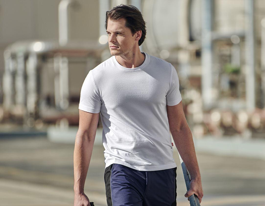 Trička, svetry & košile: e.s. Tričko cotton + bílá