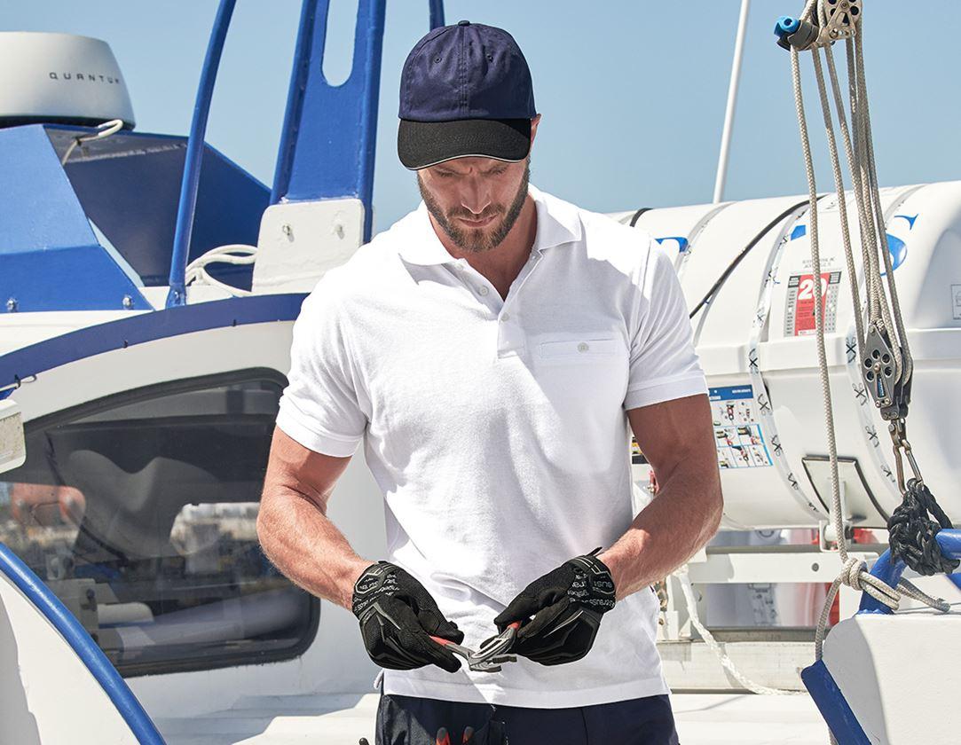 Trička, svetry & košile: e.s. Polo-Tričko cotton Pocket + bílá