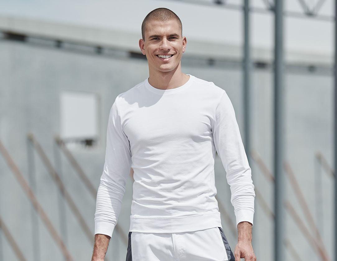 Trička, svetry & košile: e.s. triko s dlouhým rukávem cotton stretch + bílá