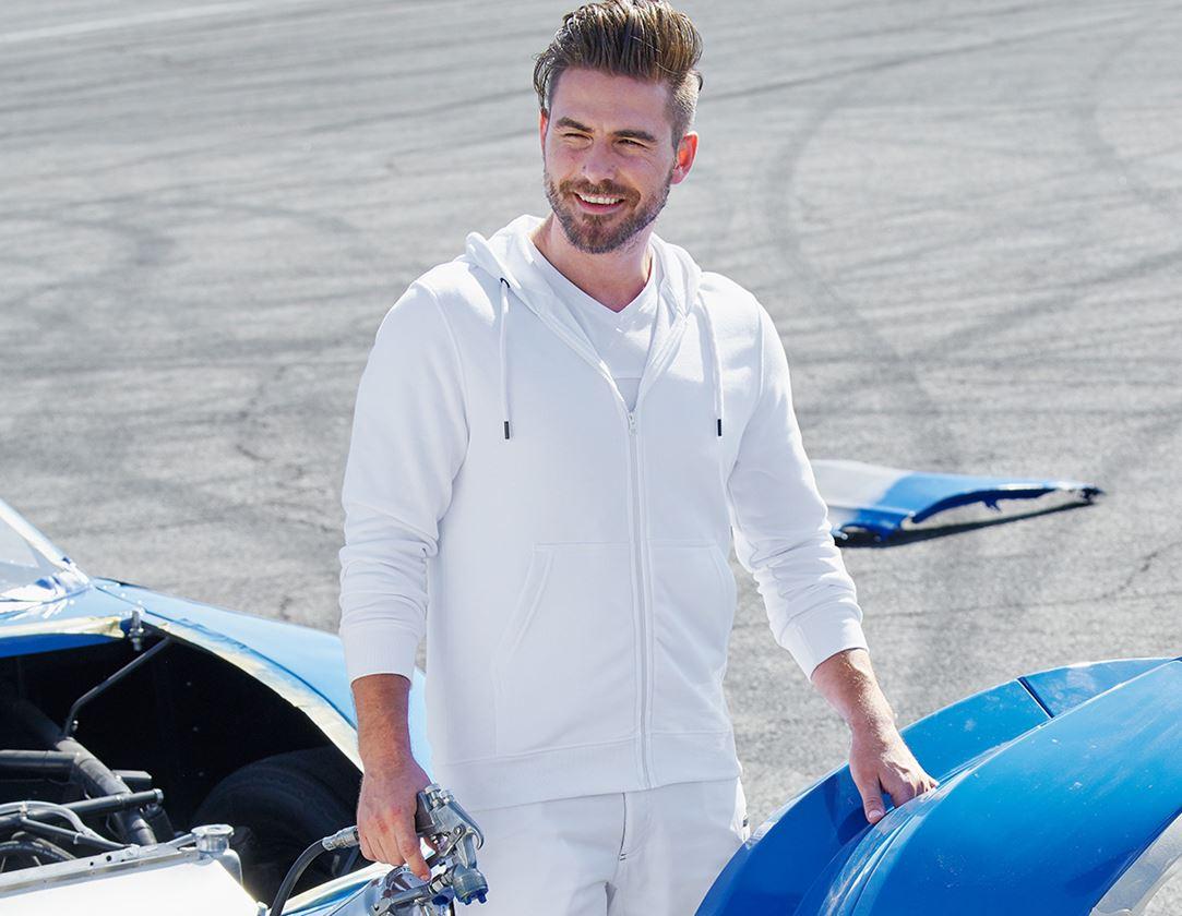 Trička, svetry & košile: e.s. Hoody-Bunda Sweat poly cotton + bílá
