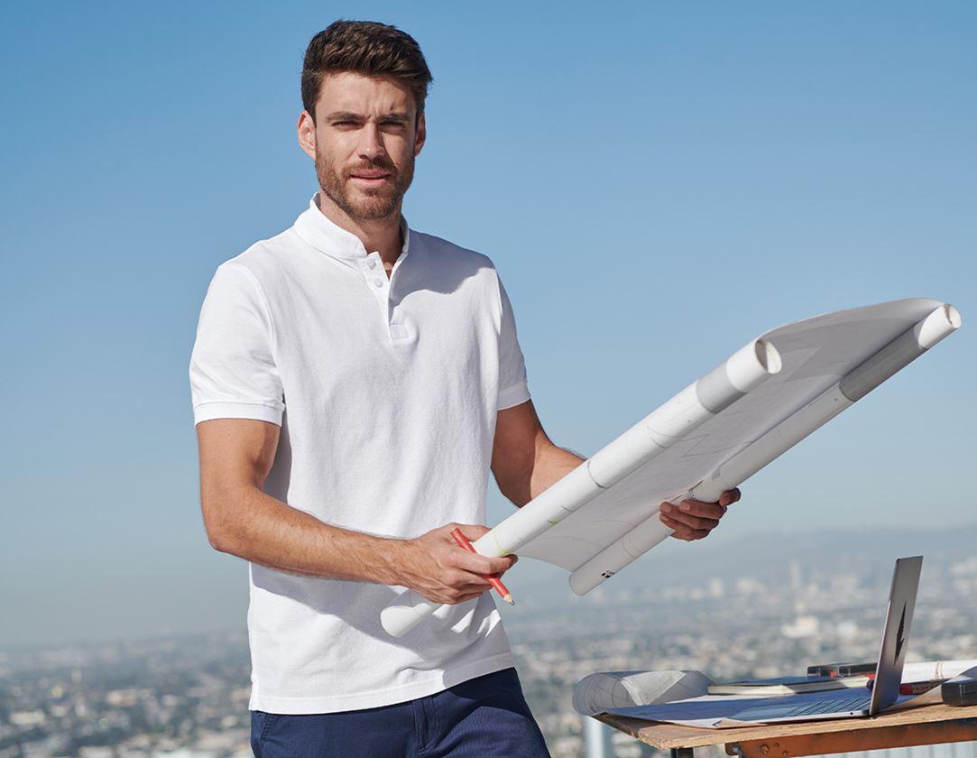 Trička, svetry & košile: e.s. Polo tričko cotton Mandarin + bílá