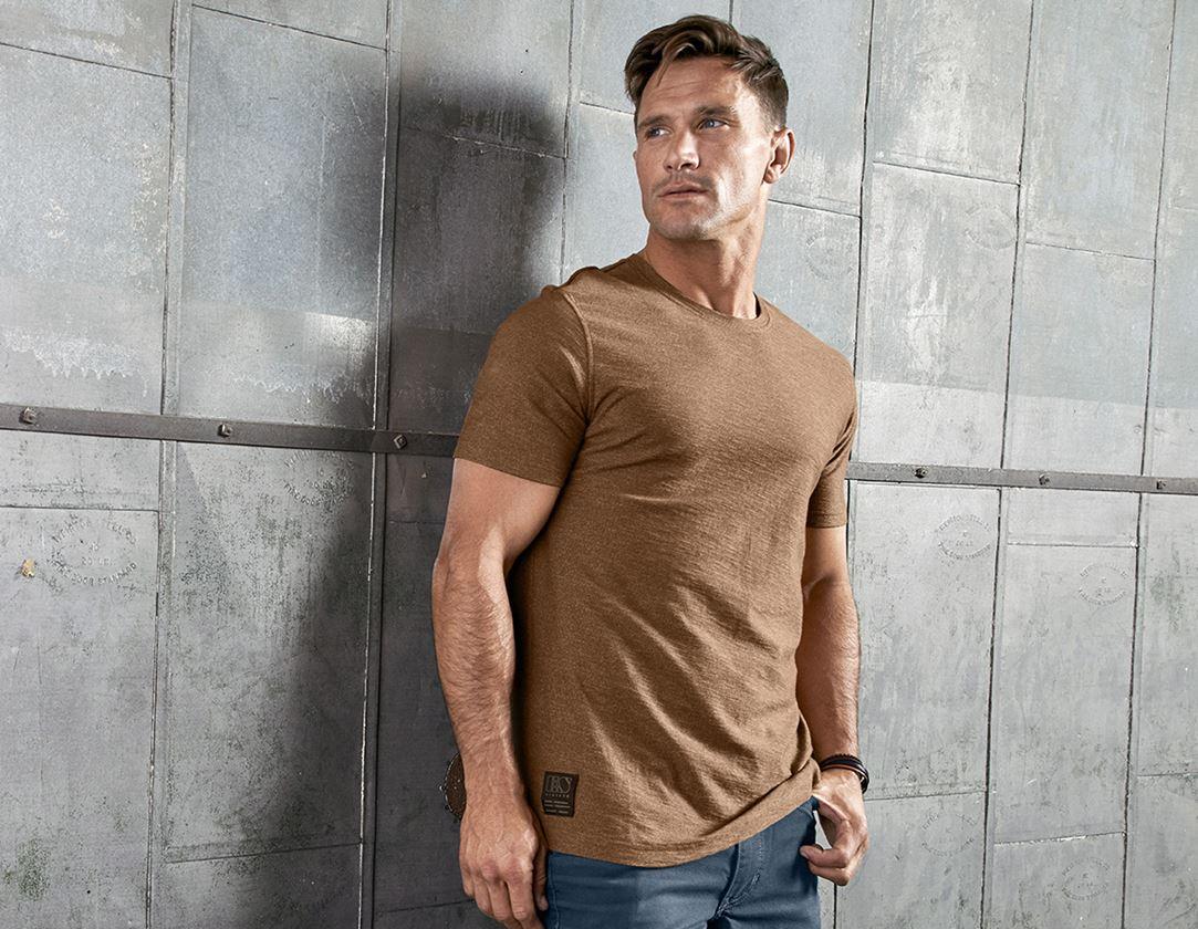 Trička, svetry & košile: Tričko e.s.vintage + sépiová melange