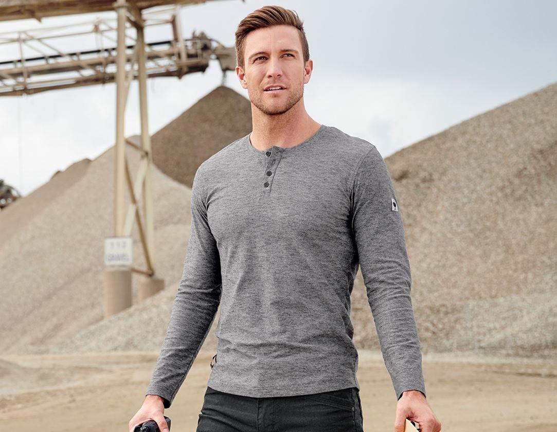 Trička, svetry & košile: Triko s dlouhým rukávem e.s.vintage + černá melanž