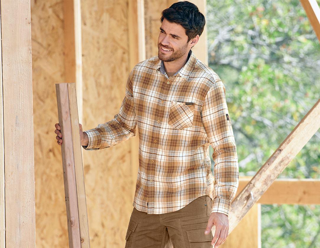 Trička, svetry & košile: Kostkovaná košile e.s.vintage + sépiová károvaná 1