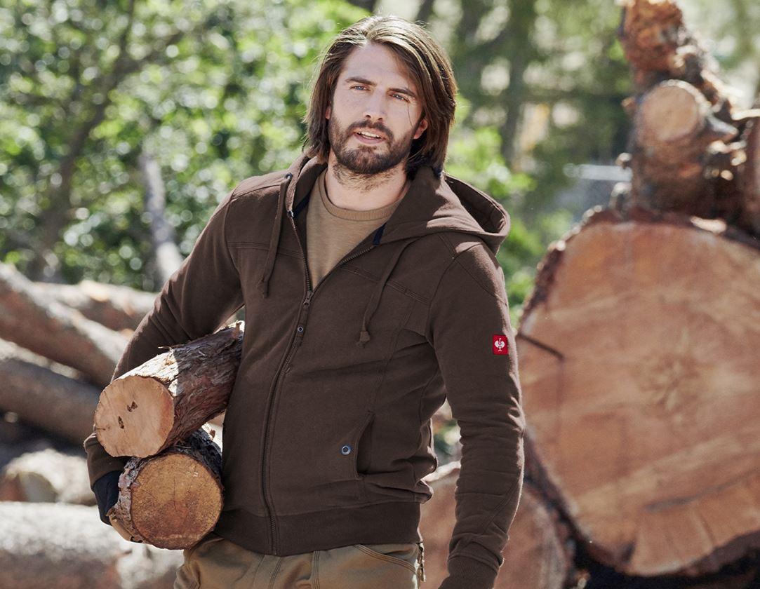 Trička, svetry & košile: Bunda s kapucí cotton e.s.roughtough + kůra