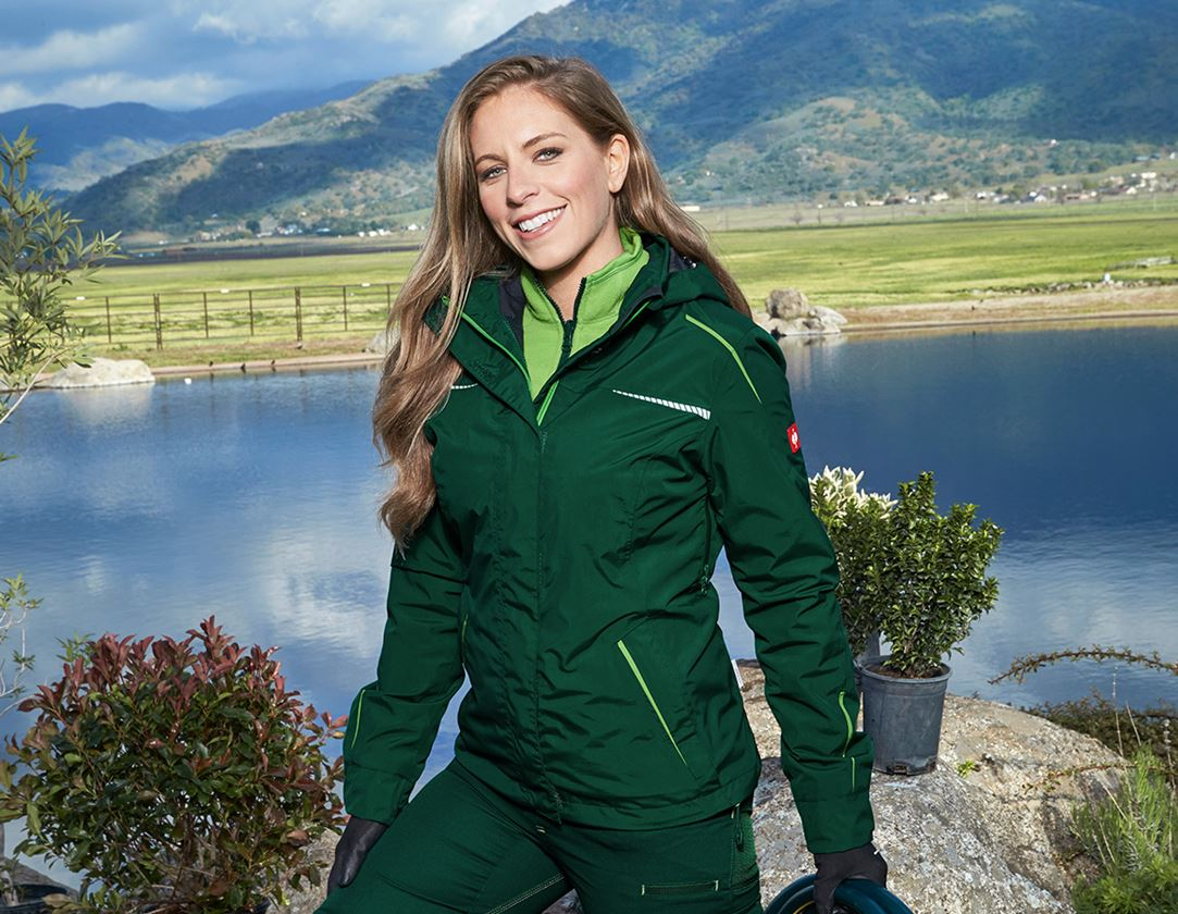 Pracovní bundy: Funkční bunda 3 v 1 e.s.motion 2020, dámská + zelená/mořská zelená
