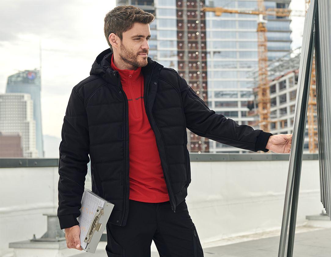 Pracovní bundy: Zimní softshellová bunda e.s.vision + černá 1