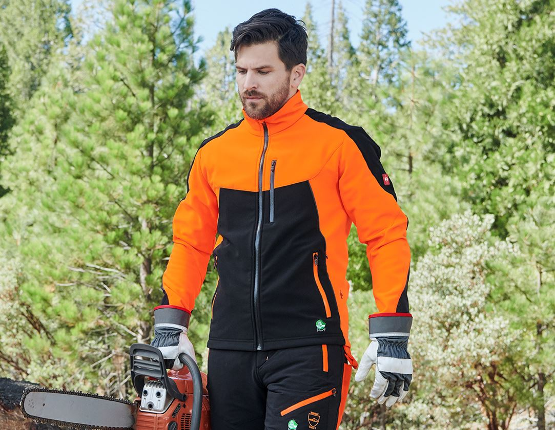 Pracovní bundy: Lesnická bunda e.s.vision + výstražná oranžová/černá