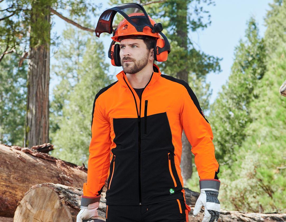 Pracovní bundy: Lesnická bunda e.s.vision léto + výstražná oranžová/černá