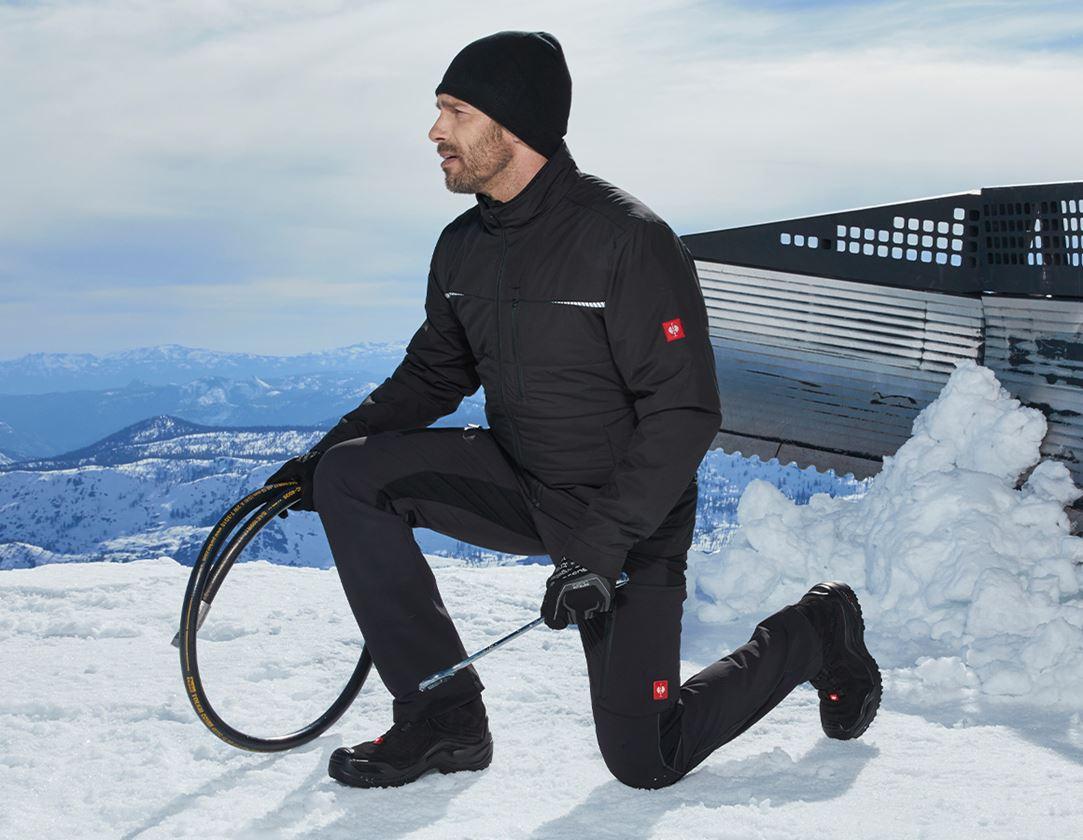 Pracovní kalhoty: Zimní cargo kalhoty e.s.vision stretch, pánské + černá 1