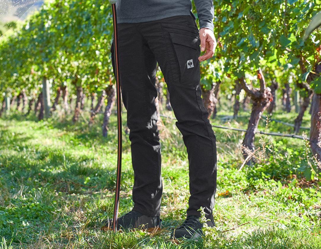 Pracovní kalhoty: Cargo kalhoty e.s.vintage, dámské + černá
