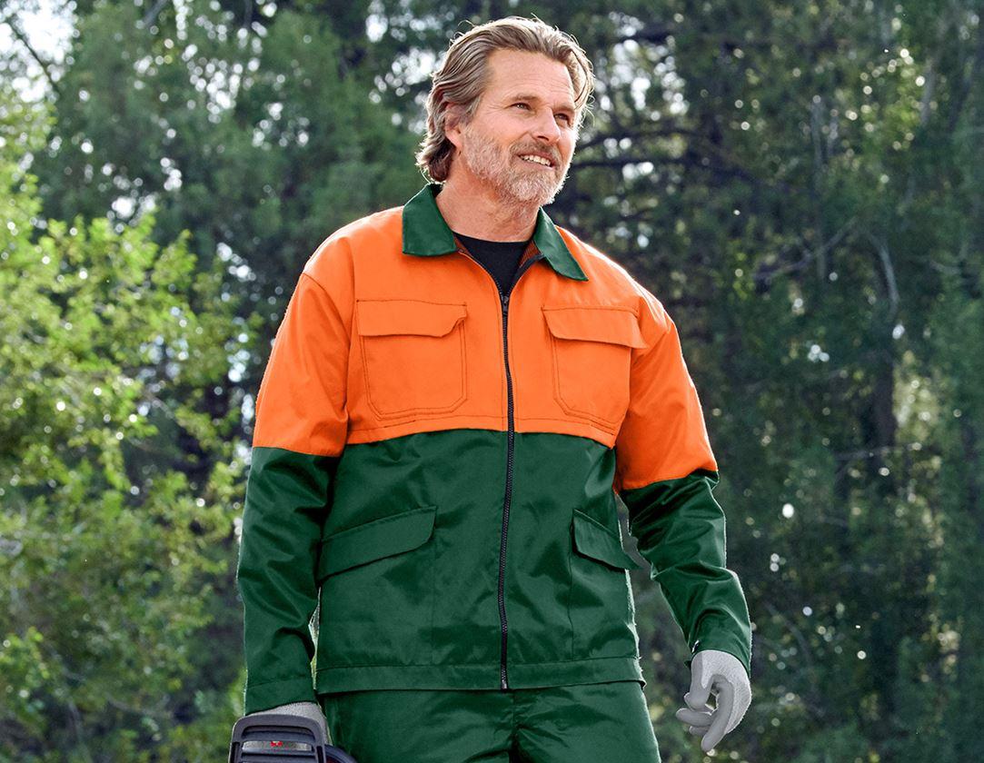 Pracovní bundy: Lesnická bunda Basic + zelená/oranžová