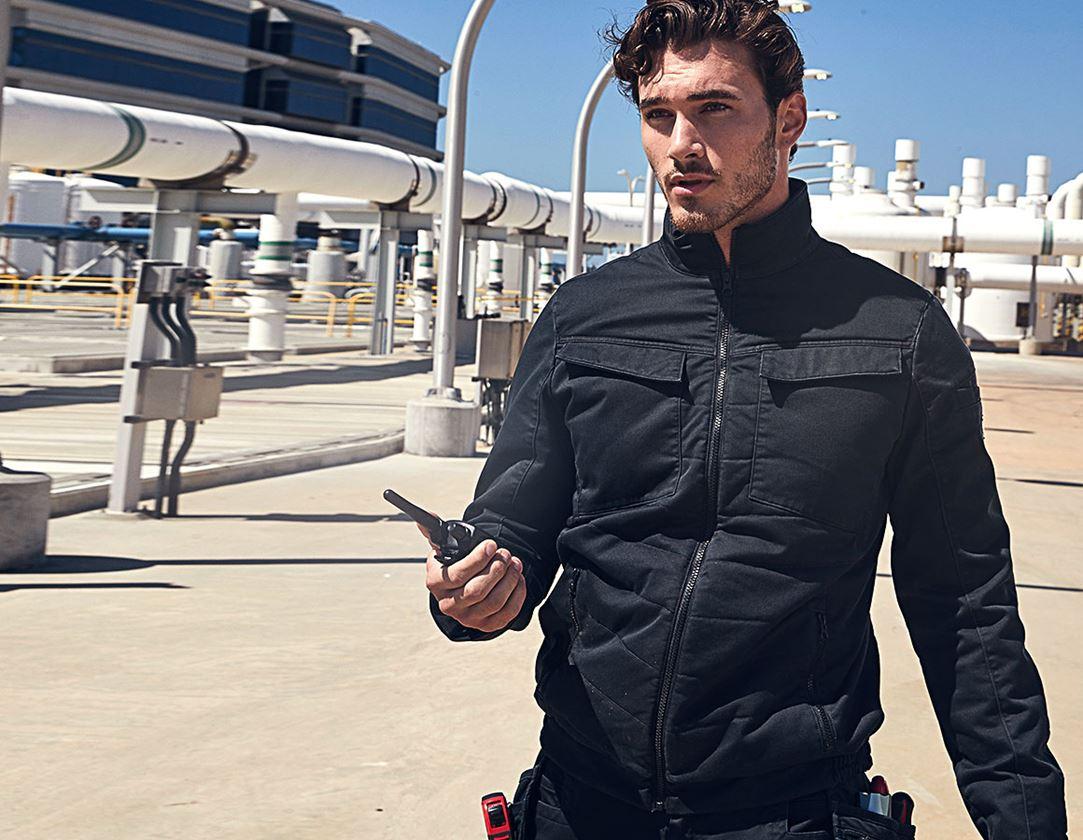Pracovní bundy: Celoroční bunda do pasu e.s.motion ten + oxidově černá