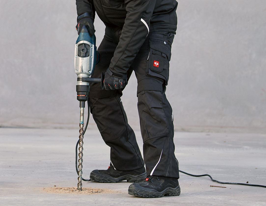 Pracovní kalhoty: Kalhoty do pasu e.s.motion, zimní + černá 1