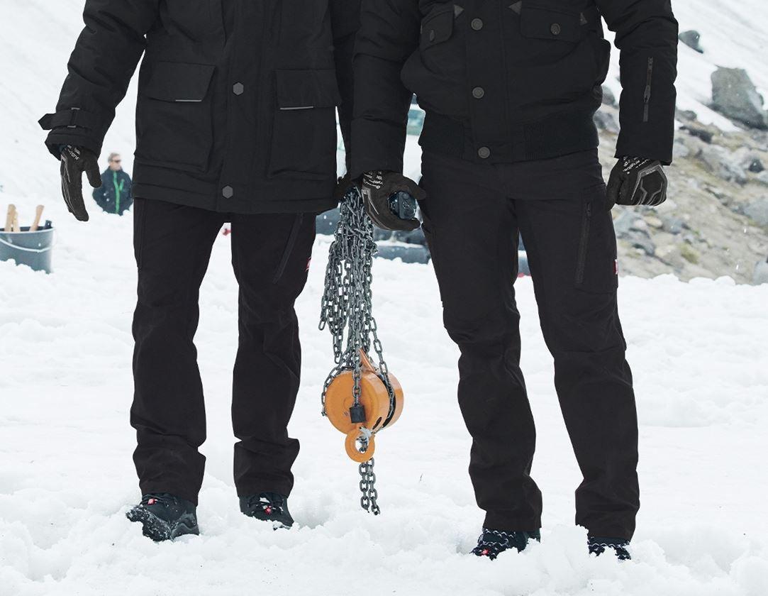 Pracovní kalhoty: Zimní kalhoty do pasu e.s.vision + černá 1