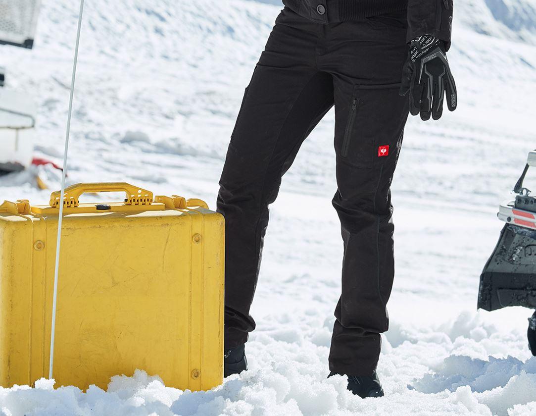 Pracovní kalhoty: Dámské zimní kalhoty e.s.vision + černá