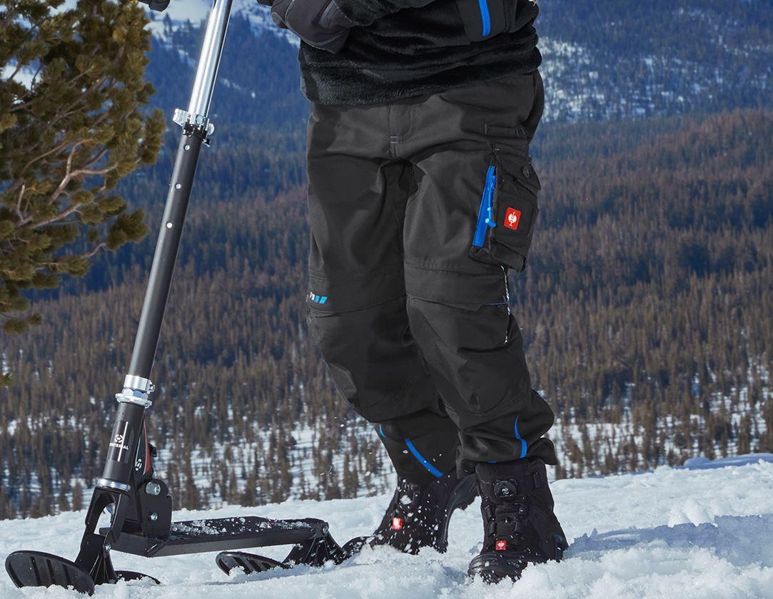 Kalhoty: Zimní kalhoty do pasu e.s.motion 2020, dětská + grafit/enciánově modrá