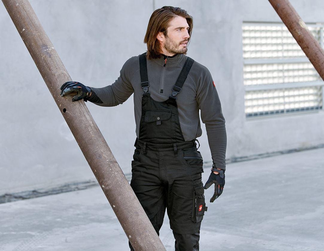 Pracovní kalhoty: Zimní kalhoty s laclem e.s.motion + černá 1