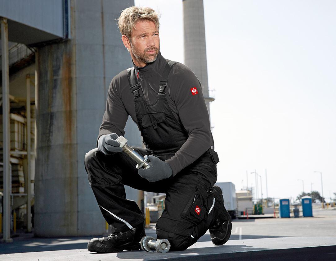 Pracovní kalhoty: Zimní kalhoty s laclem e.s.motion + černá 2