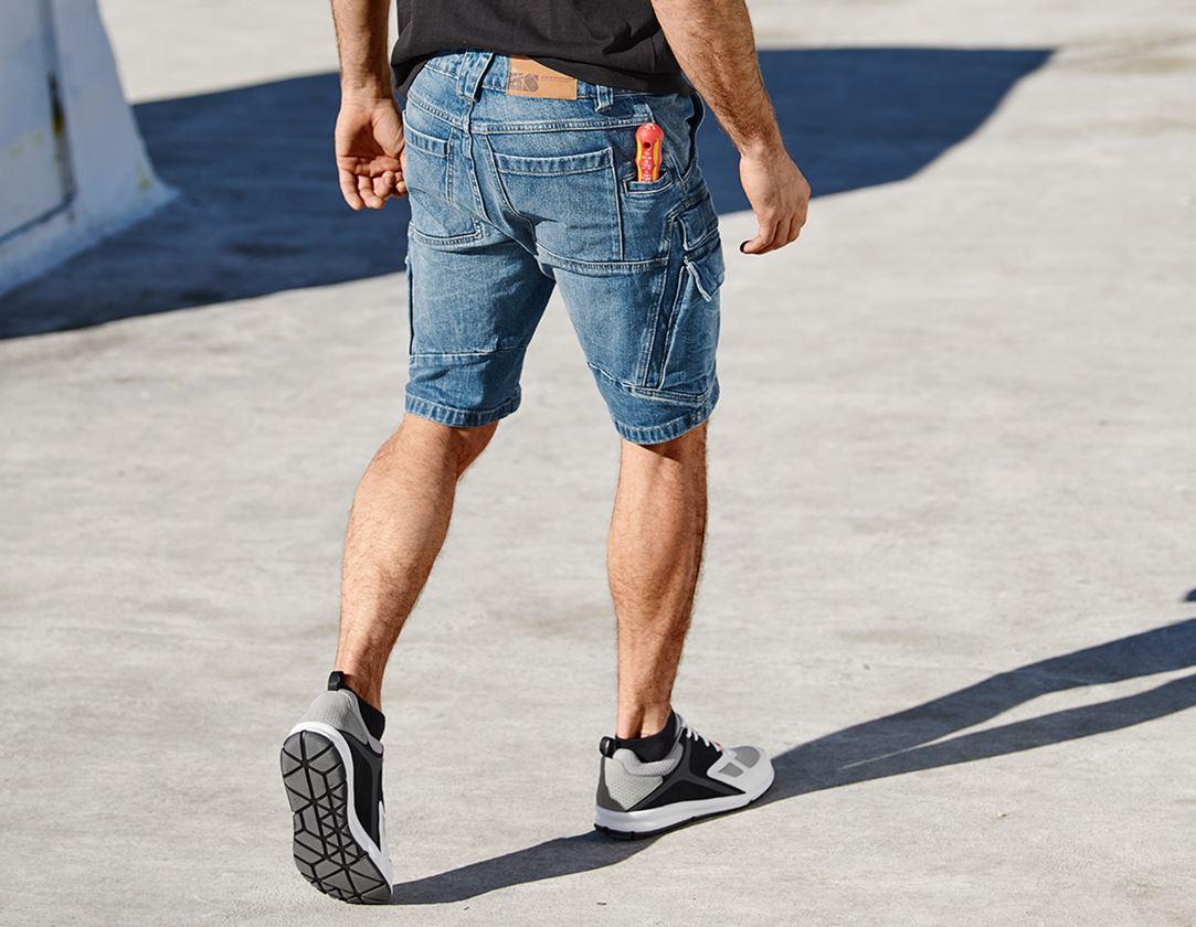Pracovní kalhoty: e.s. Pracovní džínové šortky cargo POWER denim + stonewashed 1