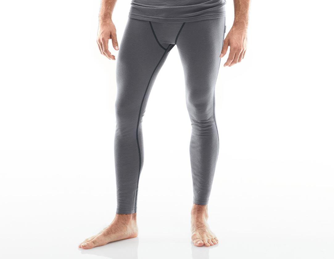 Spodní prádlo   Termo oblečení: e.s. Long-Pants Merino, pánské + cement/grafit