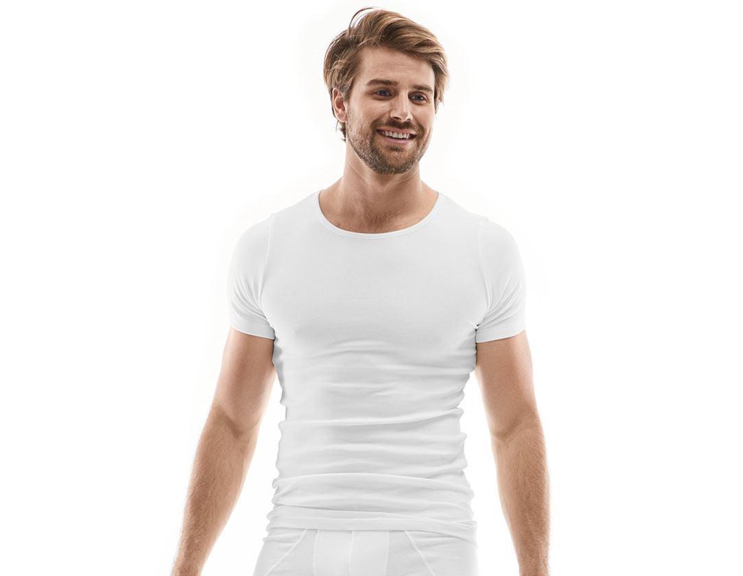 Spodní prádlo | Termo oblečení: e.s. Tričko z žebrované bavlny + bílá
