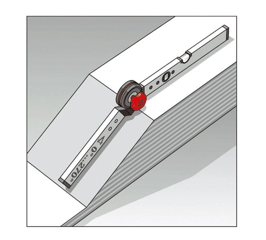 Měřicí nástroje: BMI stavební úhelník s vodováhou 3