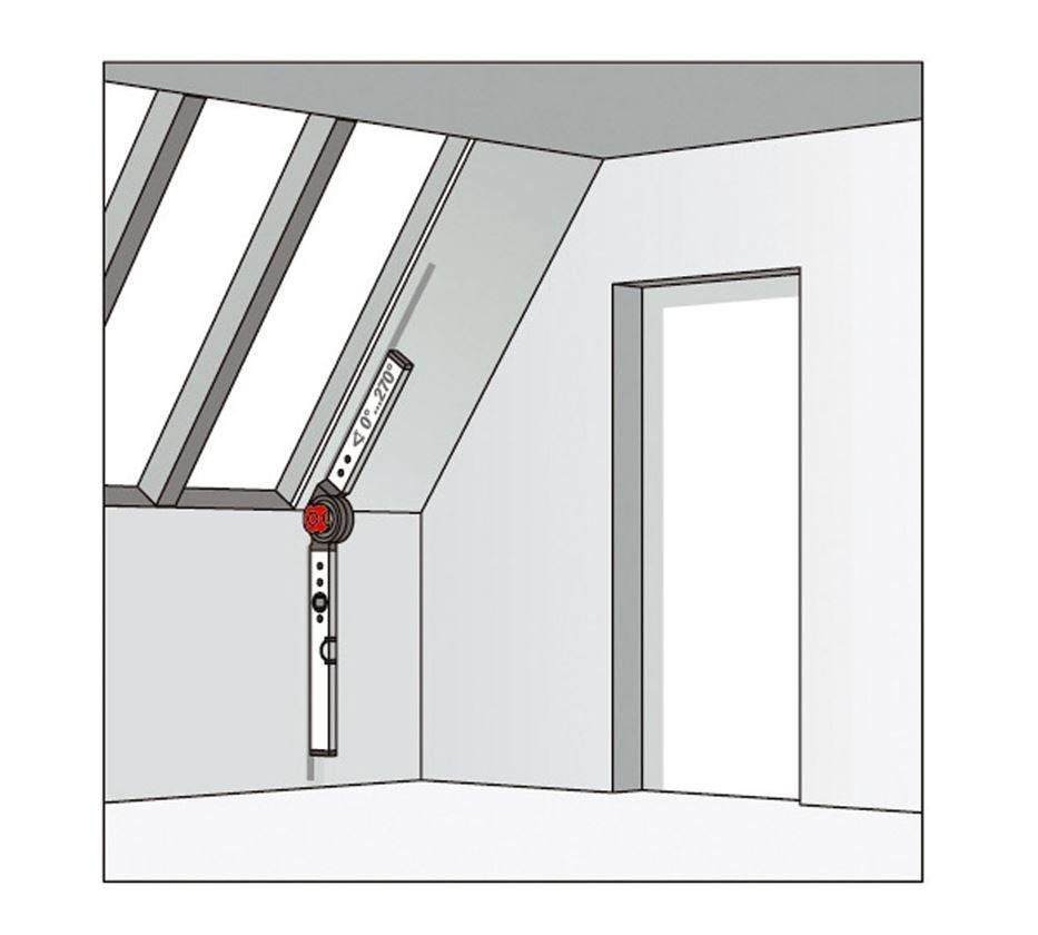 Měřicí nástroje: BMI stavební úhelník s vodováhou 2