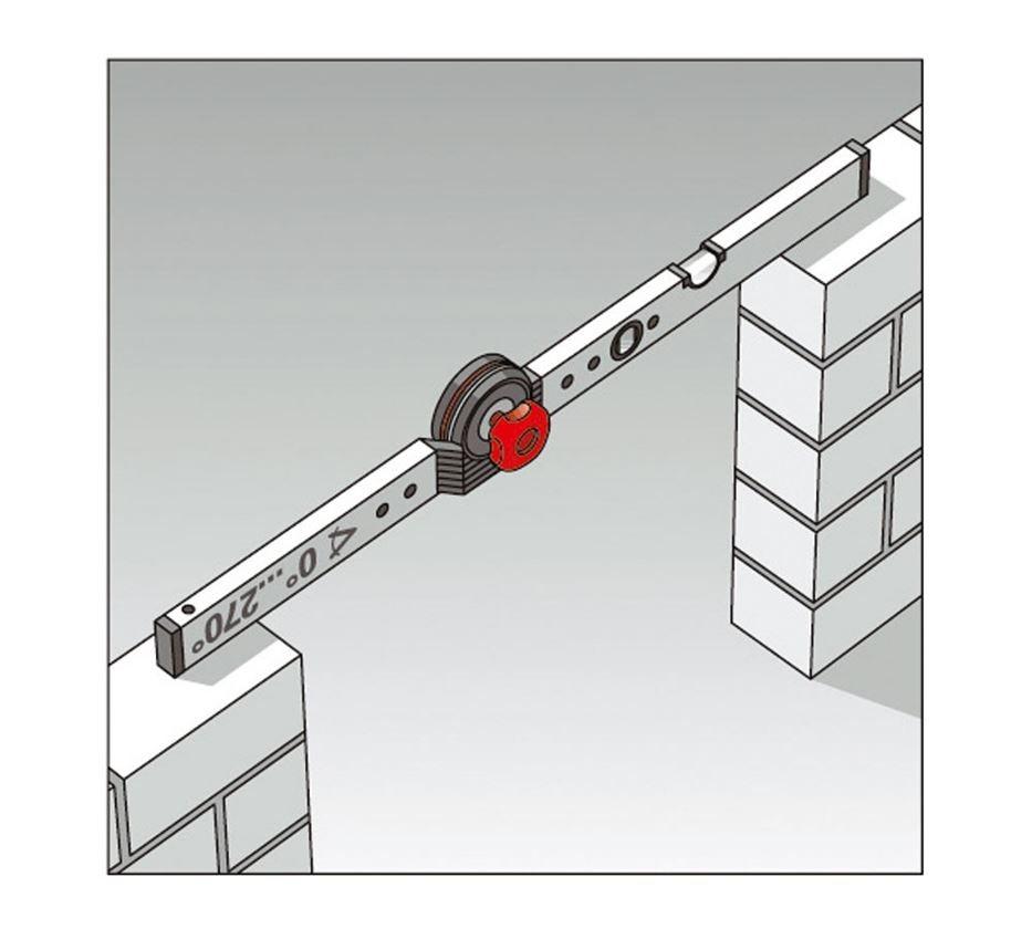 Měřicí nástroje: BMI stavební úhelník s vodováhou 1
