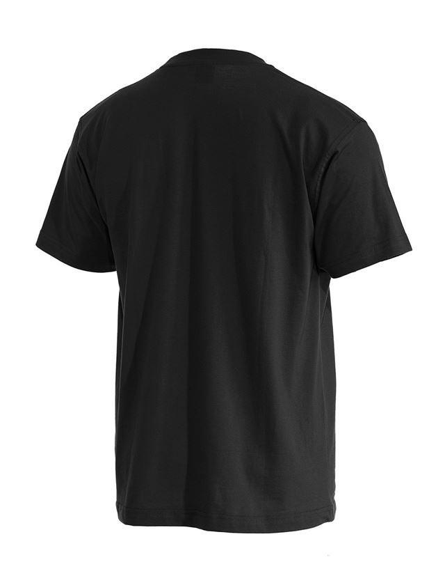 Trička, svetry & košile: e.s. Tričko cotton + černá 2