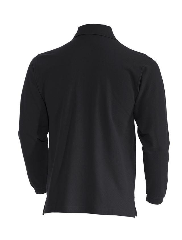 Trička, svetry & košile: e.s. Longsleeve-Polo tričko cotton Pocket + černá 1