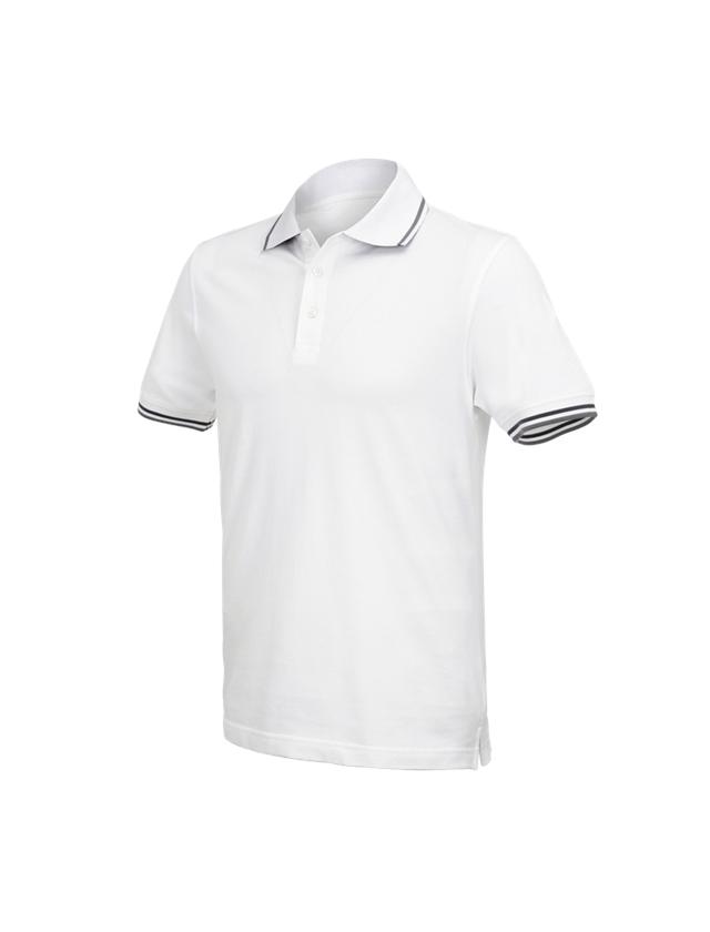 Trička, svetry & košile: e.s. Polo-Tričko cotton Deluxe Colour + bílá/antracit