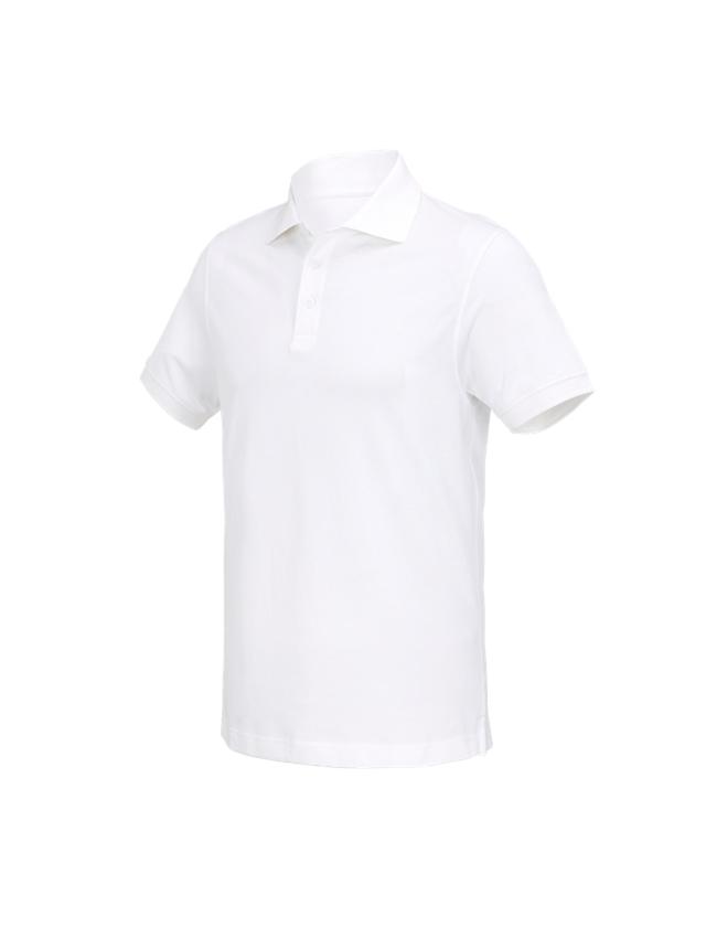 Trička, svetry & košile: e.s. Polo-Tričko cotton Deluxe + bílá