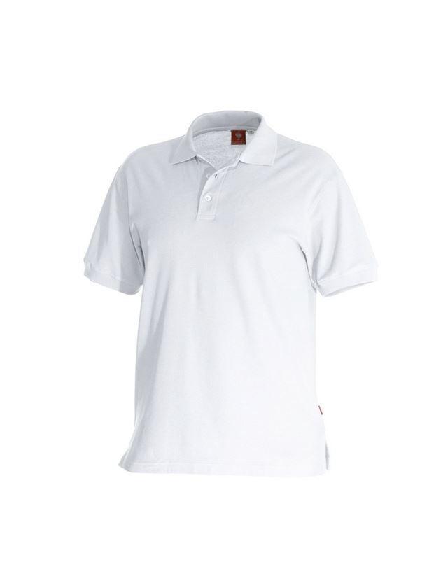 Trička, svetry & košile: e.s. Polo-Tričko cotton + bílá