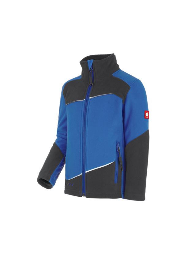 Bundy: Fleecová bunda e.s.motion 2020, dětská + enciánově modrá/grafit