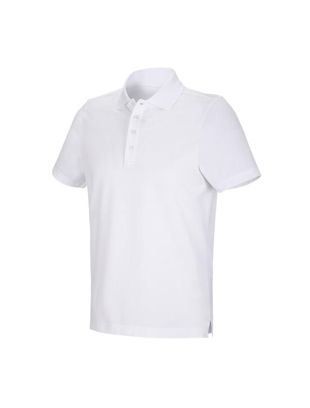 Trička, svetry & košile: e.s. Funkční polo tričko poly cotton + bílá