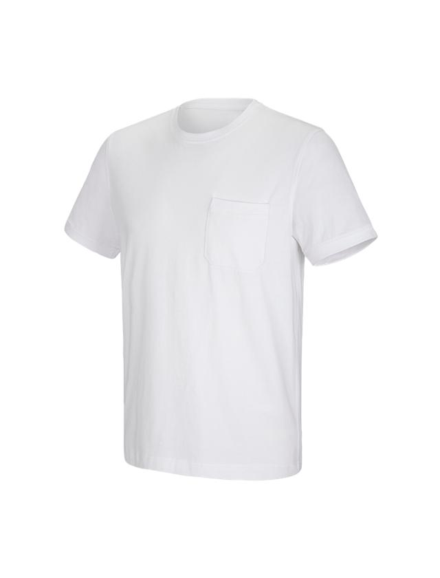 Trička, svetry & košile: e.s. Tričko cotton stretch Pocket + bílá