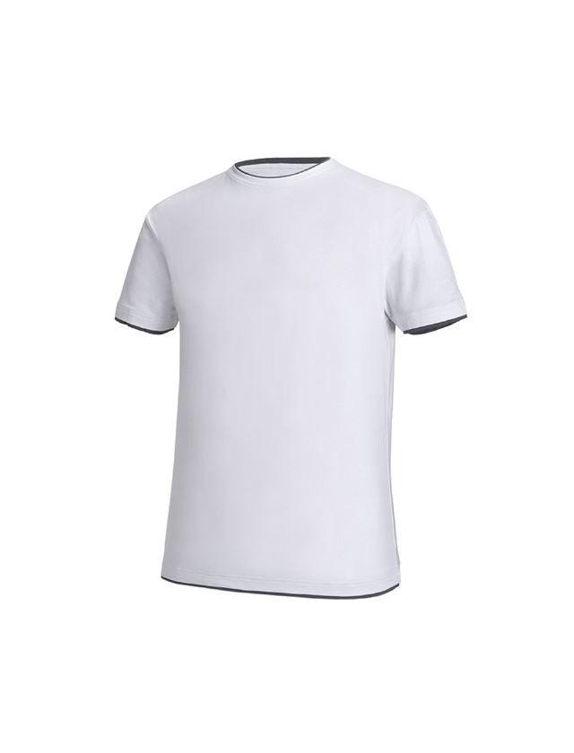 Trička, svetry & košile: e.s.Tričko cotton stretch Layer + bílá/šedá