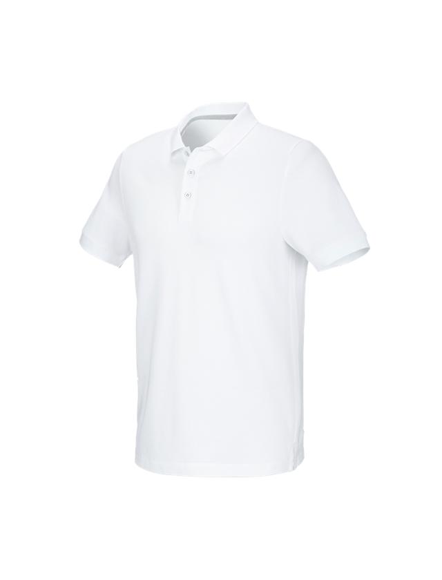 Trička, svetry & košile: e.s. Pique-Polo cotton stretch + bílá