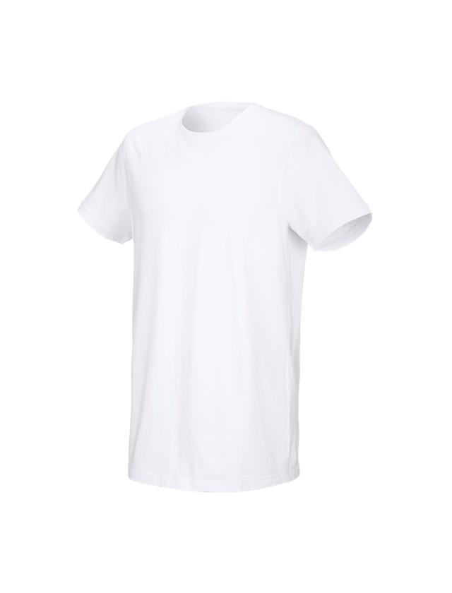 Trička, svetry & košile: e.s. Tričko cotton stretch, long fit + bílá