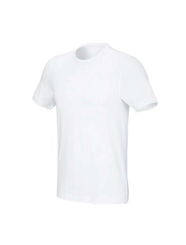 Trička, svetry & košile: e.s. Tričko cotton stretch, slim fit + bílá