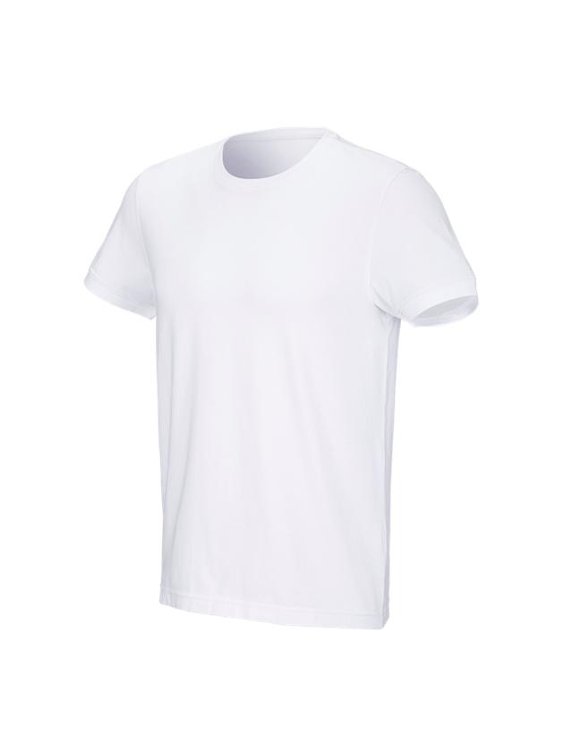 Trička, svetry & košile: e.s. Tričko cotton stretch + bílá