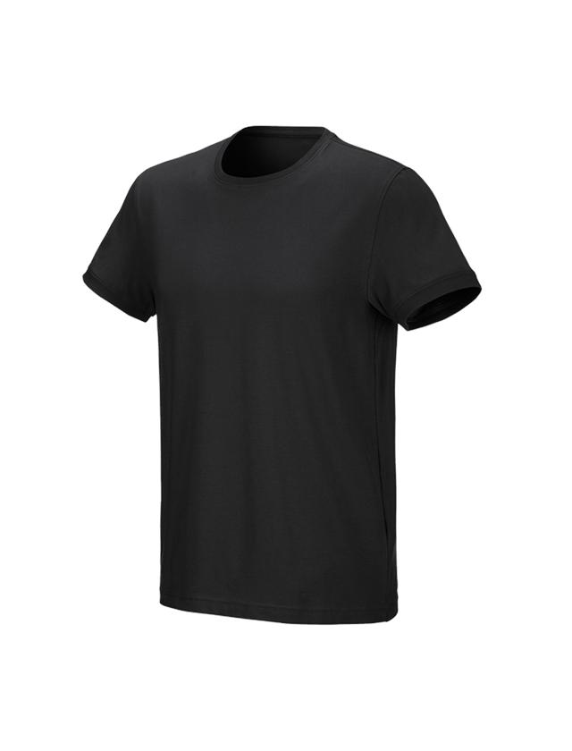 Trička, svetry & košile: e.s. Tričko cotton stretch + černá